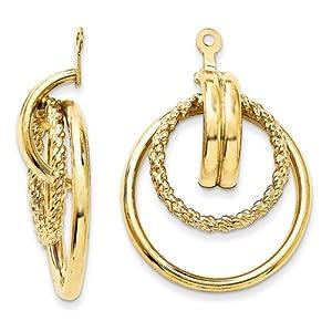 14k Polished & Twisted Fancy Earring Jackets