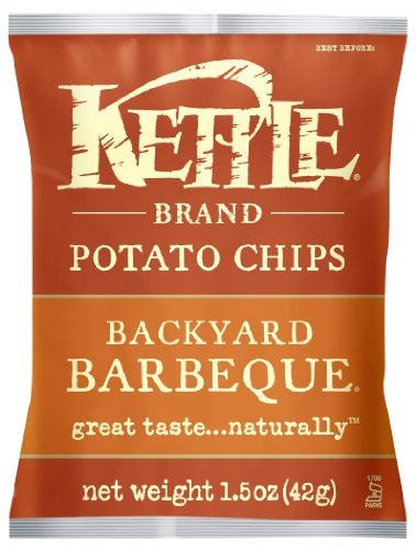 Kettle Brand Potato Chips, Backyard Barbeque, 1.5-Ounce Bags (Pack of 24) (Kettle Brand Chips compare prices)