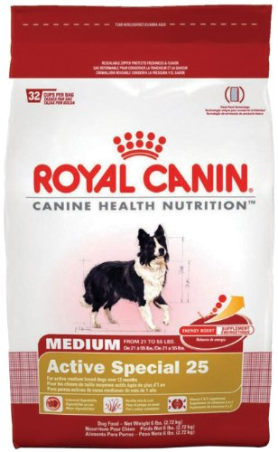 Royal Canin Dry Dog Food, Medium Active Special 25 Formula, 30-Pound Bag