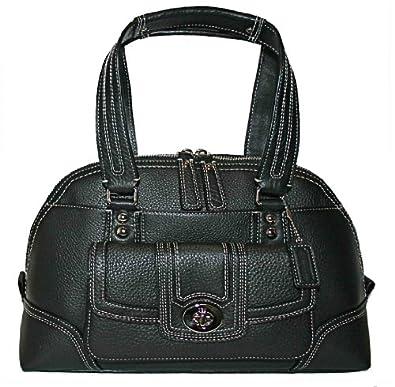 Coach Black Handbag Tote F13963