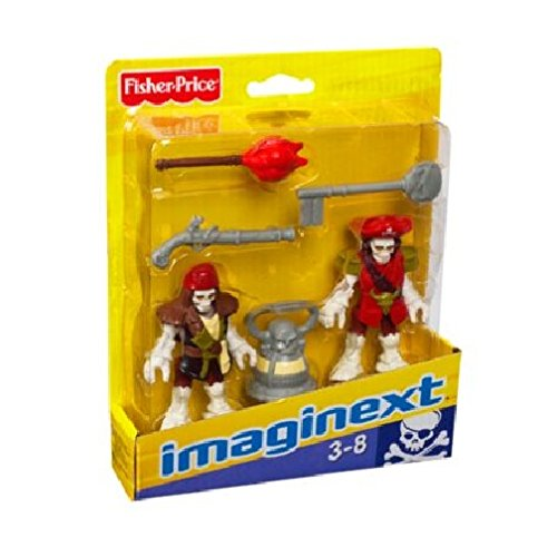 Imaginext Pirate Ship Skeleton Pirate Captain & Officer - 1
