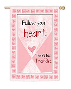 Follow Your Heart Everoptics Garden Flag