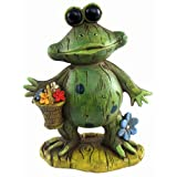 Puzzled Frog Decor W/Basket Decor ~ Puzzled