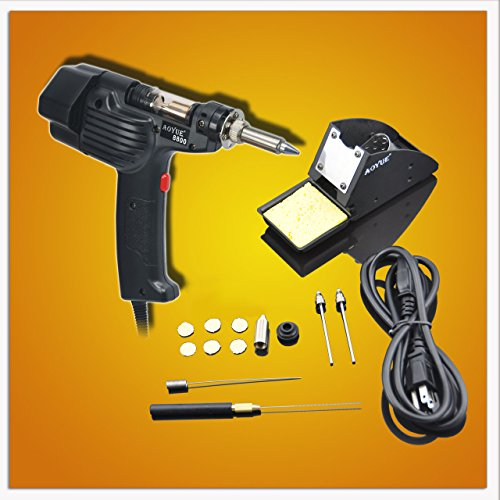 Aoyue 8800 Self Contained Desoldering Gun with Internal Vacuum Pump and Carrying Case, 120V AC (Hakko 808 Desoldering Gun compare prices)