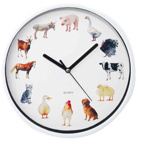 Wanduhr Bauernhof m. Tiergeräuschen Kinderuhr Kinderzimmer Küchenuhr Uhr kaufen