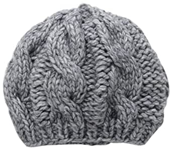San Diego Hat Women's Cable Knit Beret, Dove, One Size