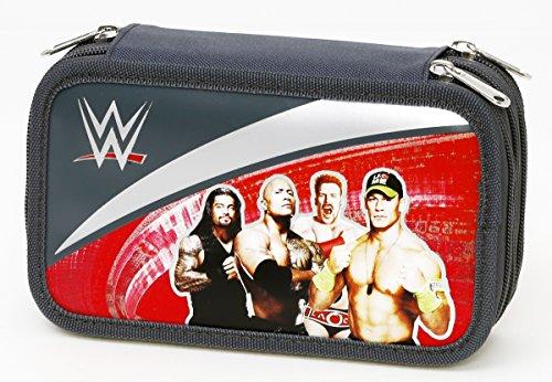 Giochi Preziosi - WWE Astuccio Triplo con Colori, Pennarelli ed Accessori Scuola