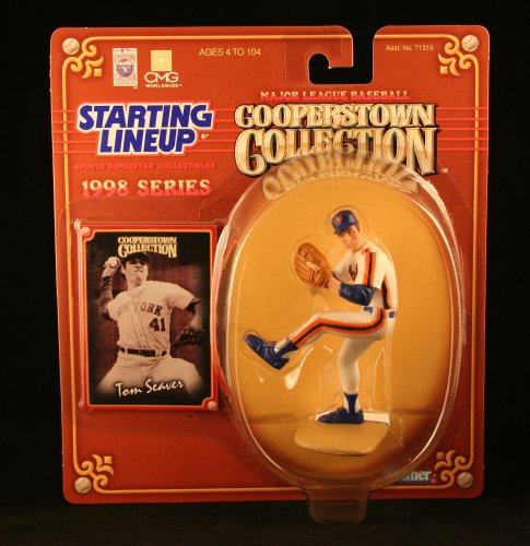 1 X TOM SEAVER / NEW YORK METS 1998 MLB Cooperstown Collection Starting Lineup Action Figure & Exclusive Trading Card - 1