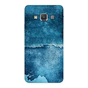 Stylish Blue Paint Print Back Case Cover for Galaxy A3