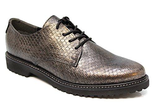 Marco Tozzi 23712, Donna Derby lacci scarpe Taglia UK 3-9, argento (Pewter), 8 UK