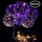 Neo LOONS 18 Inch LED Light Up Balloons LED Bobo Balloons Helium Balloons for Birthday,Wedding,Christmas Party Decorations,12 Pcs (Color: Multi-color, Tamaño: 12 Pack)