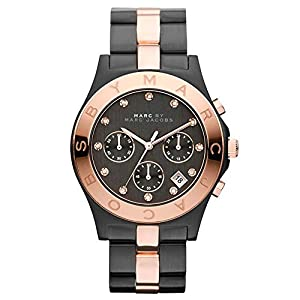 marc by marc chronograph two tone black