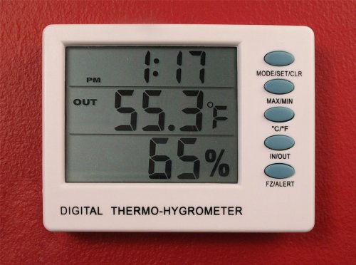 Wine Cellar Thermometer Hygrometer Measures Temperature