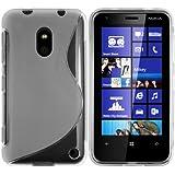 mumbi TPU Skin Case Nokia Lumia 620 Silikon Tasche Hülle - Silicon Protector Schutzhülle transparent weiss