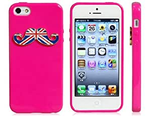 Amazon.com: 3D Moustache Accent Protective Case for iPhone 5/5s (Rose