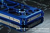 アルミビレットケース for iPhone4 / ホールCIRCLE ブルー
