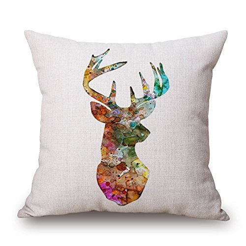 18 X 18 Inches / 45 By 45 Cm Deer Pillowcase,twice Sides Is Fit For Pub,him,living Room,living Room,shop,kids Boys
