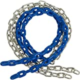 5 1/2 Ft Coated Chain Per Pair, Blue with SSS logo Sticker
