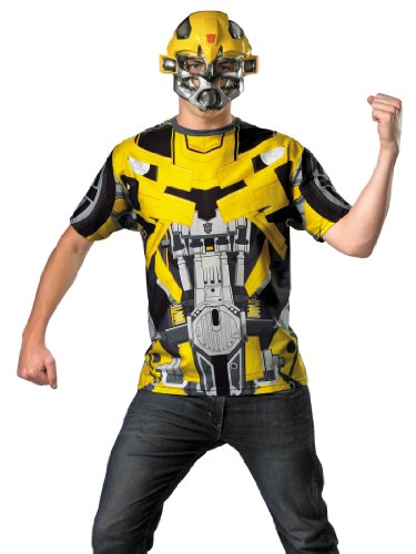 Transformers Costume Bumblebee Superhero Shirt and Mask Theatrical Mens Costume
