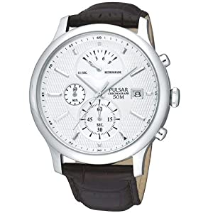 pulsar silver chronograph stainless steel