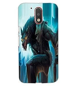 ColourCraft The Demon Fox Design Back Case Cover for MOTOROLA MOTO G4 PLUS