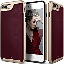 iPhone 7 Plus Case, Caseology [Envoy Series] Classic Rich Texture PU Leather [Leather Cherry Oak] [Luxury Slim] for iPhone 7 Plus (2016)