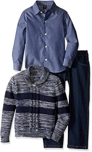 nautica-little-boys-three-piece-set-with-woven-shirt-striped-shawl-sweater-and-denim-jean-sport-navy