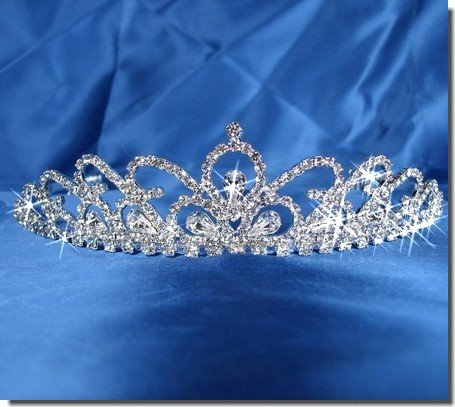 Bridal Wedding Tiara Crown With Crystal Arches 30596