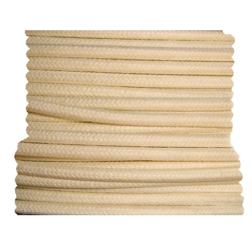 Cloth Braided Primary Wire - White 16 Gauge - 10 Foot Length