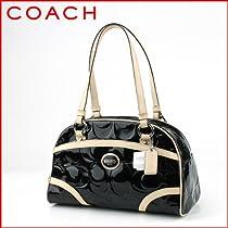 Hot Sale Coach Peyton Black Embossed Patent Satchel 20065