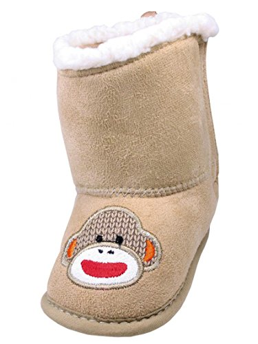 Ryder Infant Boy Sock Monkey Soft Sole Boots by Baby Starters