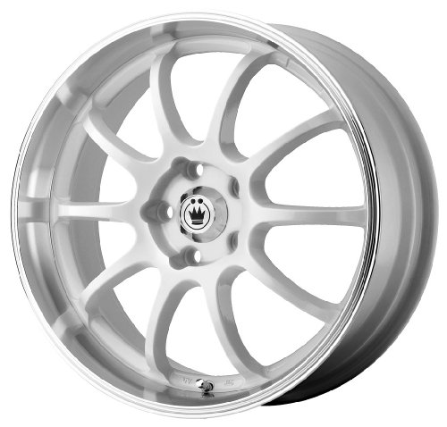 51k%2BR1982iL Konig Lightning White Wheel with Machined Lip (16x7/4x100mm)