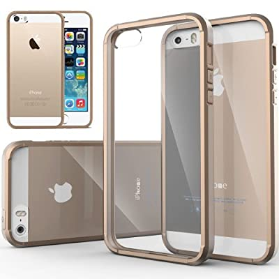 iPhone 5S case, Caseology® [Clear back Bumper] DIY Customization Fusion Hybrid Cover [Shock Absorbent] Apple iPhone 5S case from MODN
