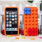 iphoneケース/レゴ/ブロック/オレンジ【iPhone5対応】