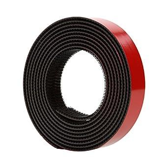 3M Dual Lock Reclosable Fastener TB3870 250/250 Black, 1 in x 10 ft (1 Mated Strip/Bag)