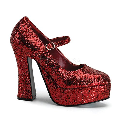 Funtasma Women'S Dolly 50G Platform Shoes,Red Glitter,6 M Us