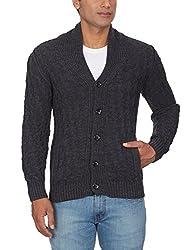 GAS Men's Wool Blend Sweater (8059890961757_83806_Large_1987-Storm Melange)