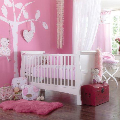 Izziwotnot Baby Fleur Luxury Cot Bed Quilt Bedding Bale (5 Piece, Pink)