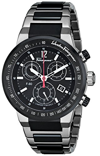 Salvatore-Ferragamo-Mens-F55030014-F-80-Analog-Display-Swiss-Quartz-Black-Watch
