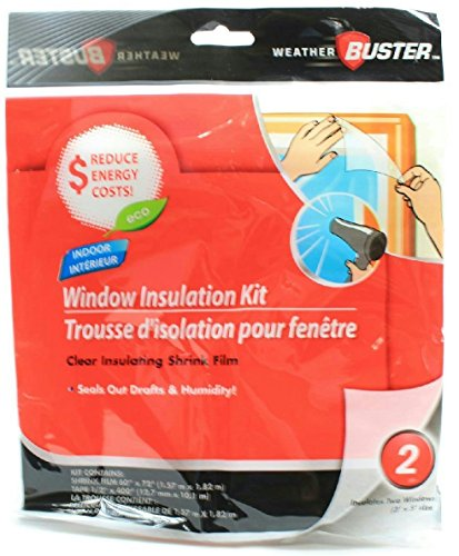 Weather Buster 3' X 5' Clear Window Insulation Kit, 2 Pack (Window Winter Insulation Kit compare prices)