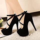 Sexy Fashion Womens Platform Pumps Strappy Buckle Stiletto...