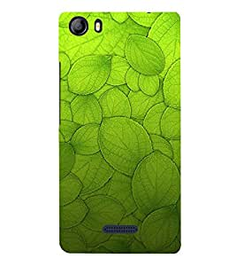 Leaf Design Pattern 3D Hard Polycarbonate Designer Back Case Cover for Micromax Canvas 5 E481