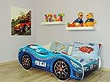 topbeds Bett für Kinder Design Auto Running Matratze inklusive