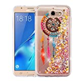 Wydan Case for Samsung Galaxy J7 Sky Pro, Perx, J7 V, J7 Prime, Halo, J7 2017 - Slim Hybrid Liquid Bling Glitter Sparkle Quicksand Waterfall Shockproof TPU Phone Cover - Dreamcatcher (Color: Dreamcatcher)