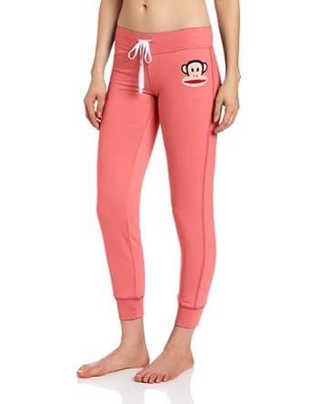 (史低)大嘴猴Paul Frank女士卫裤 宝蓝橘红 尺码全Women's Solid Pant$17.48