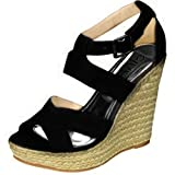 Damita K Womens Diva-02 Strappy Wedge Sandals