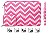 Mosiso - Chevron Rose Red Canvas Fabric 11-11.6 Inch Laptop /...