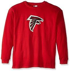 NFL Atlanta Falcons Men's Screen Thermal Long Sleeve T-Shirt, 2X Tall, Red