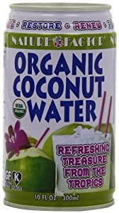 Nature Factor Organic  Coconut Water, 10-Ounce Cans (Pack of 12)