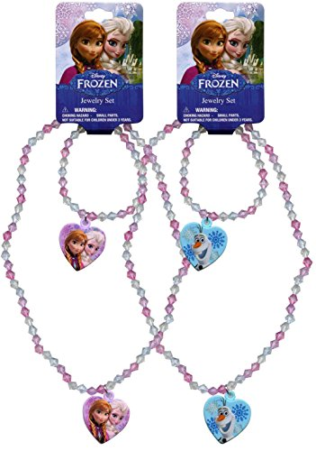 Disney Frozen Necklace & Bracelet Set - 1 Set of the Assortment
